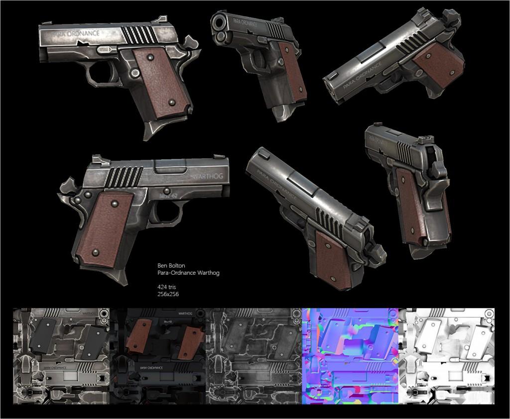 Ben Bolton. Lowpoly Guns [portfolio online]. 2015, źródło: https://www.artstation.com/artist/benbolton