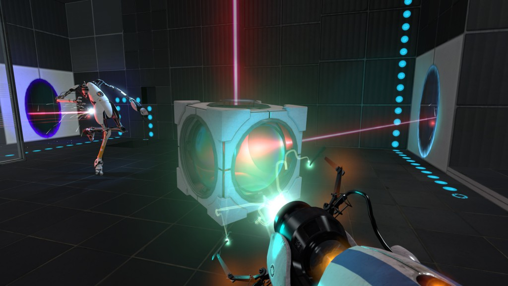 Valve Corporation. <b>Portal 2</b> [PC]. Valve Corporation, 2011, <i>źródło: http://www.playstationlifestyle.net/2011/01/21/hop-into-a-new-world-with-portal-2-screenshots/portal-gameplay-03/</i>