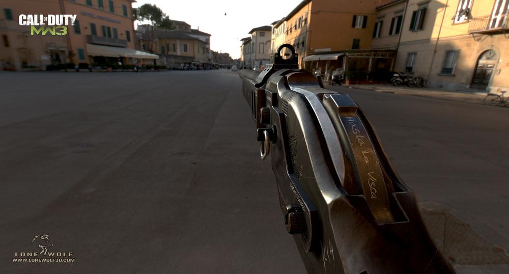 Yaron Levi. <b>M1887 Call of Duty: Modern Warfare 3</b> [portfolio online]. 2013, <i>źródło: http://yaron-levi.squarespace.com/call-of-duty-modern-warfare-3/</i>