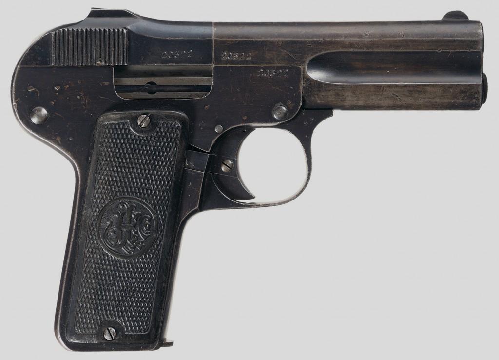 <b>Unique FN 1900 Copy Melior Semi-Automatic Pistol</b> [online]. <i>źródło: http://www.rockislandauction.com/viewitem/aid/64/lid/1506</i>