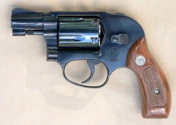 Smith & Wesson Bodyguard model 49 [online]. źródło: https://en.wikipedia.org/wiki/Smith_%26_Wesson_Bodyguard